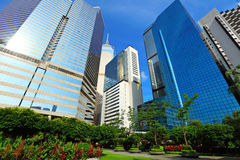Business district in Hong Kong Stock Photography