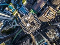 Business District of Hong Kong. From drone view Stock Image