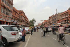 Business district of Jaipur Stock Photo
