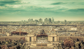 Business district La Defence in Paris Royalty Free Stock Images