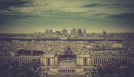 Business district La Defence in Paris Stock Photography