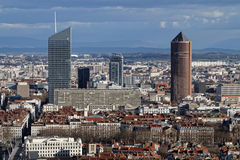 Business district of La Part-Dieu, and its towers Stock Photos