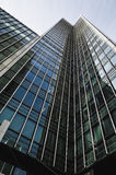 Business district in London. Corporate buildings in Canary Wharf, London Royalty Free Stock Photo