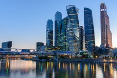 Business district in Moscow - Moscow International Business Center `Moscow City`, Russia royalty free stock image