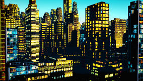 Business District at Night. Business District in the  Night Royalty Free Stock Photography