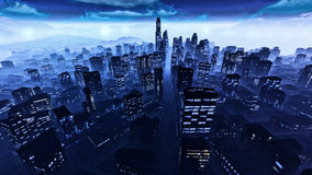 Business District at Night. Business District in the night Royalty Free Stock Photos