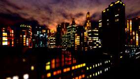 Business District at Night Stock Photography