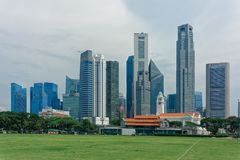 Business district, Padang view stock photography