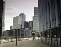 Business district of Paris La Défense. Street in the business district of Paris La Défense. Tours in Europe Royalty Free Stock Images