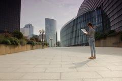 Business district of Paris La Défense Royalty Free Stock Photography