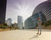 Business district of Paris La Défense Royalty Free Stock Photo