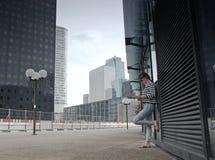 Business district of Paris La Défense Royalty Free Stock Images