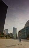 Business district of Paris La Défense Stock Photography