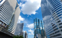 Business District on Sathorn Road royalty free stock photo