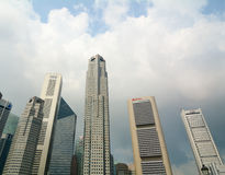 Business district of Singapore Royalty Free Stock Photos
