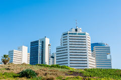 Business district in Tel Aviv Royalty Free Stock Photo