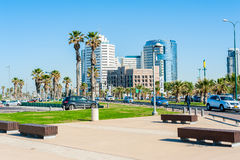 Business district in Tel Aviv Royalty Free Stock Photography