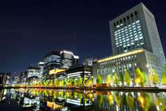 Business district in Tokyo Stock Photo