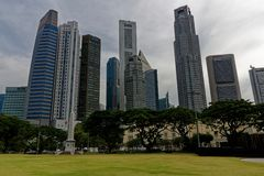 Raffles place, cty of singapore stock image