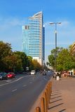 Business district in Warsaw. Poland royalty free stock images