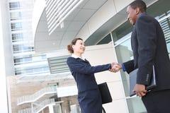 business diverse handshake man woman Στοκ εικόνες με δικαίωμα ελεύθερης χρήσης