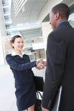 business diverse handshake man woman Στοκ φωτογραφία με δικαίωμα ελεύθερης χρήσης