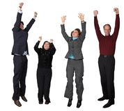 Business diverse team jumping! Stock Images
