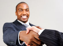 Business diversity handshake Stock Image