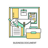 Business document concept Stock Photos
