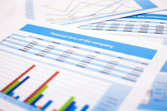 Business document. Finance data Stock Image