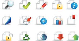 Business document icon set Royalty Free Stock Photography