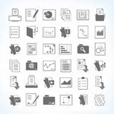 Business document icons. Set of 36 business document and file icons Royalty Free Stock Photos