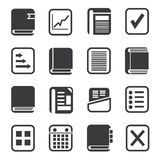 Business document icons Stock Photos