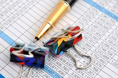 Business document and number analysis Stock Image