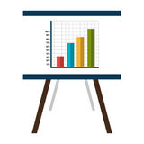 Business document sheet isolated icon. Business document with statistics icon, vector illustration graphic Stock Image