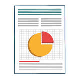Business document sheet isolated icon. Business document with statistics icon, vector illustration graphic Royalty Free Stock Images