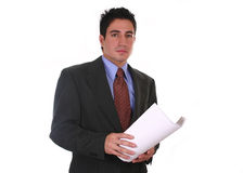Business documents. Businessman, checking business documents Royalty Free Stock Photo