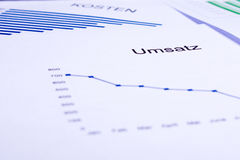 Business documents. Different business documents, viewed trough some glasses Stock Image