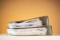 Business Documents in Folders Royalty Free Stock Images