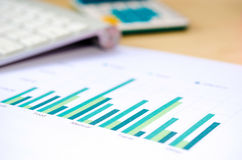 Business documents graph Stock Image