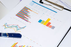 Business documents graph Royalty Free Stock Photo