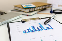 Business documents graph Stock Photography