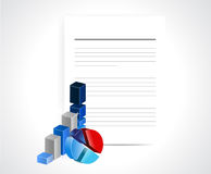 Business documents illustration design Stock Photo