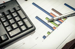 Business documents and keyboards Royalty Free Stock Photography