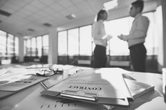 Business documents Stock Image