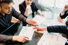 Business document data statistics paper discussion stock photos