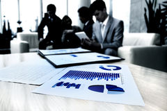 business documents on workplace Royalty Free Stock Photo