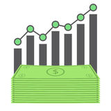Business dollar graph Stock Images