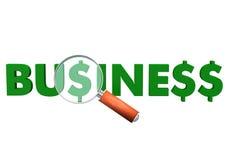 Business Dollar Loupe Royalty Free Stock Photo