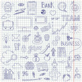 Business doodle background Stock Images